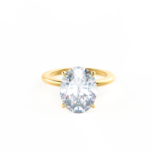 Yellow Gold Oval Solitaire Photo Rendering