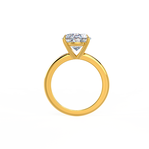 Yellow Gold Oval Solitaire Photo Rendering 3