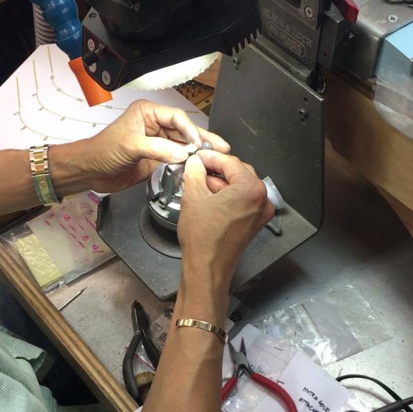 polishing a lab grown diamond