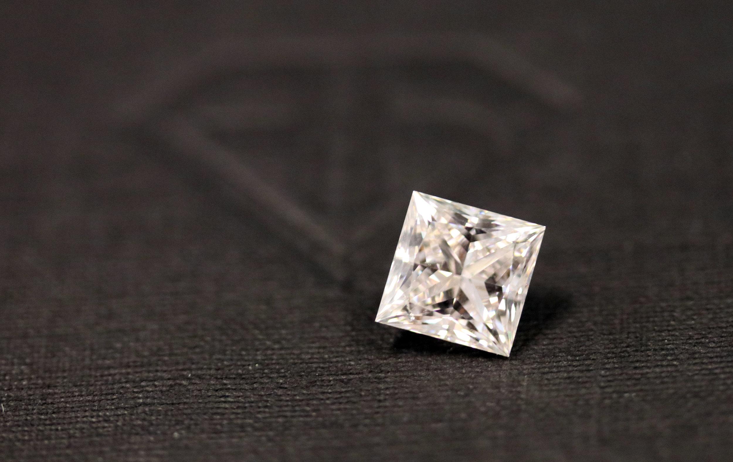 loose princess cut lab grown diamond Ada Diamonds