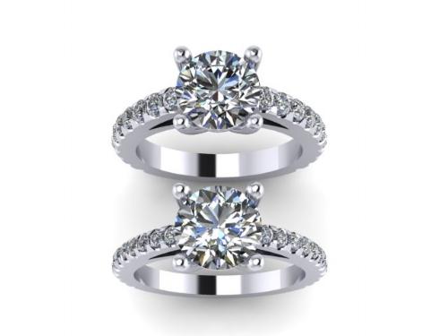 custom lab diamond engagement ring rendering