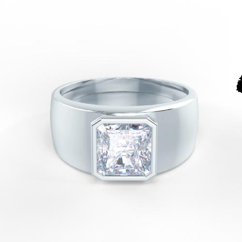 Men's Bezel Set Ring CAD Rendering