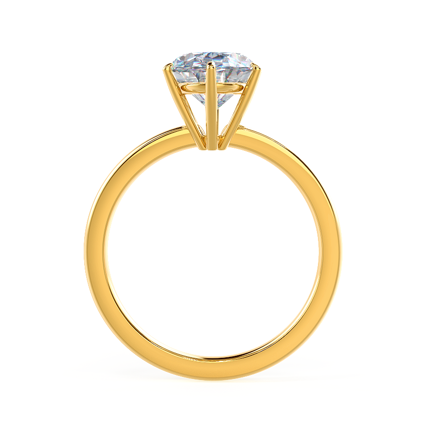 Oval Six Prong Solitaire Rendering Final