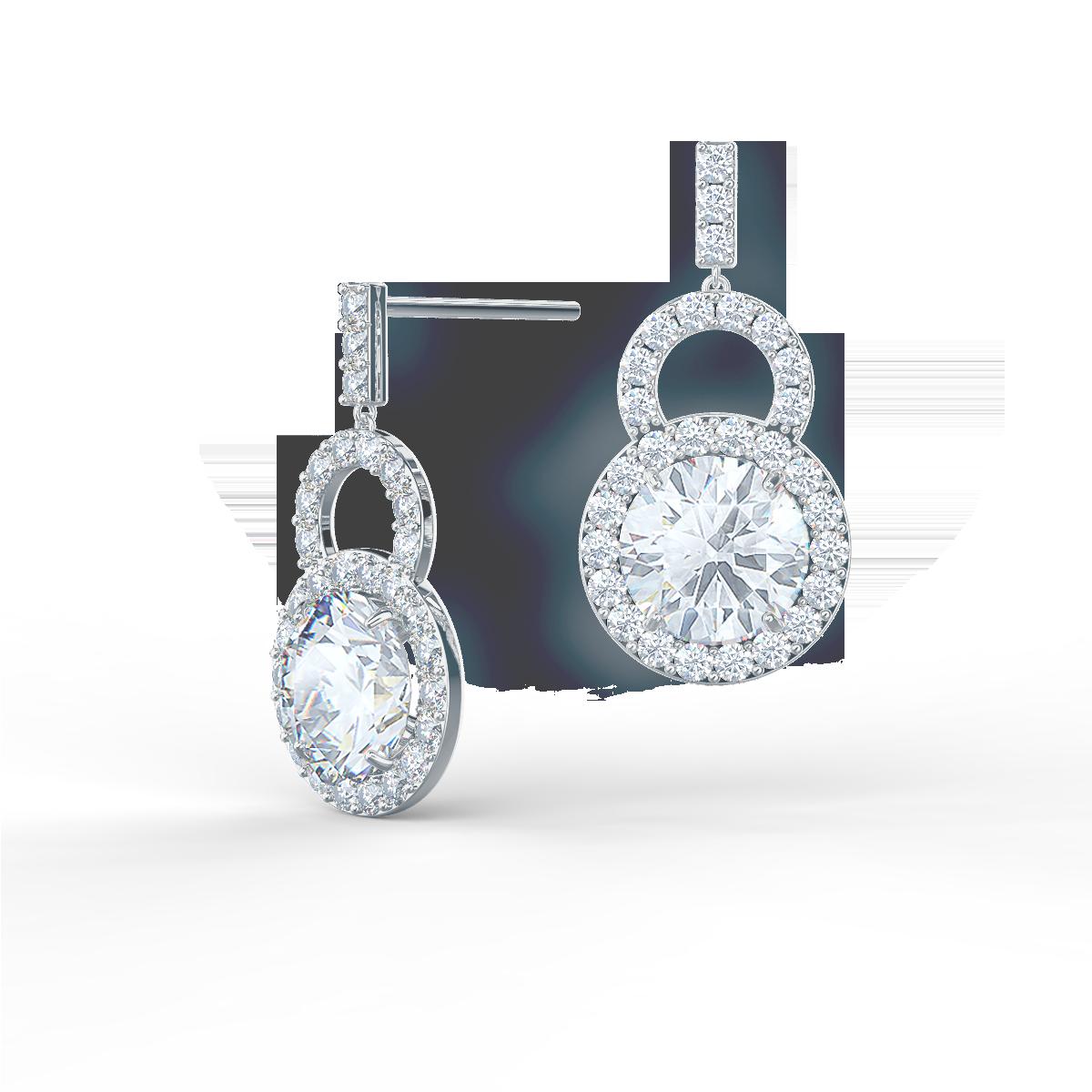 Ada Diamonds royal round lab grown diamond drop earrings