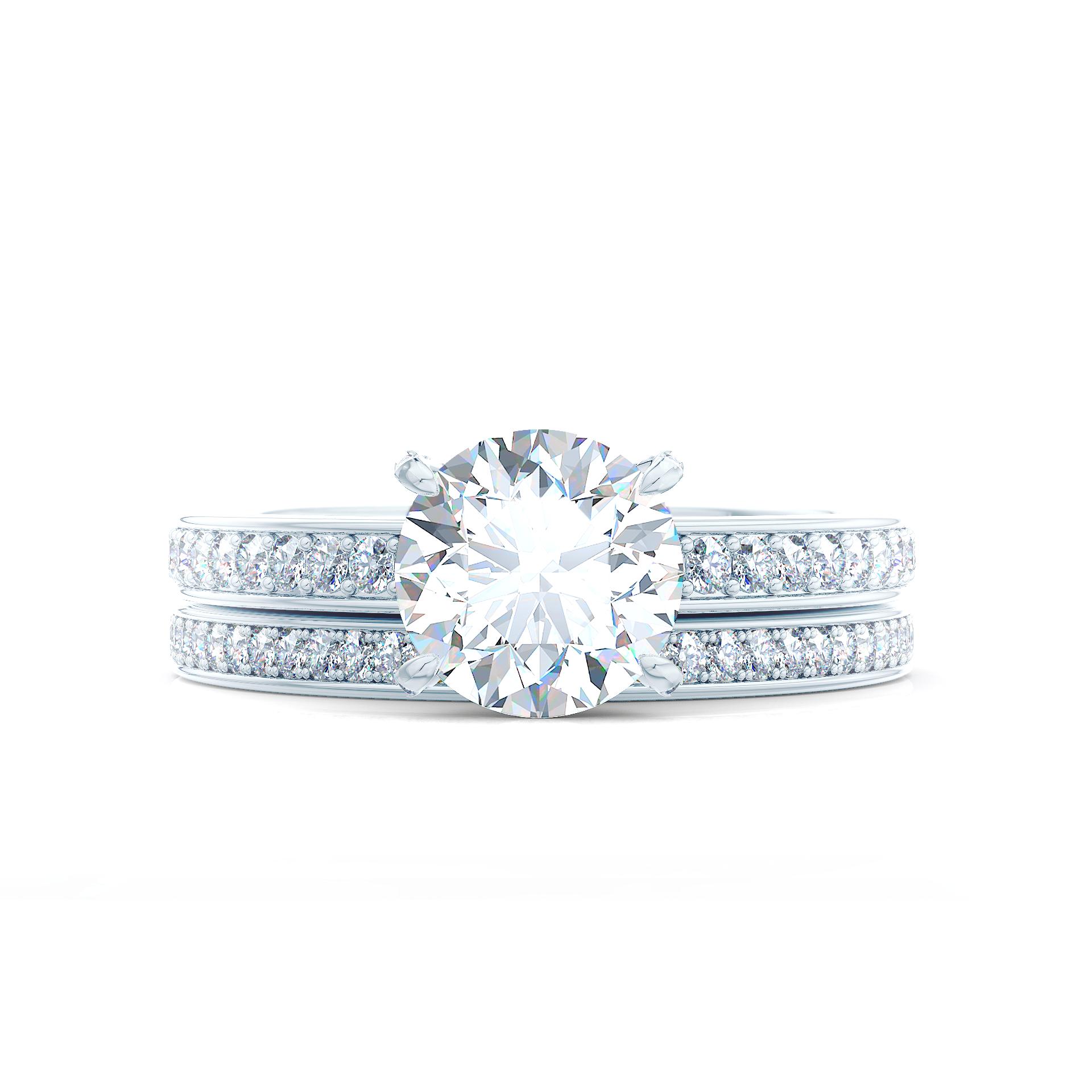Custom Bridal Lab Created Diamond Engagement and Wedding Rings