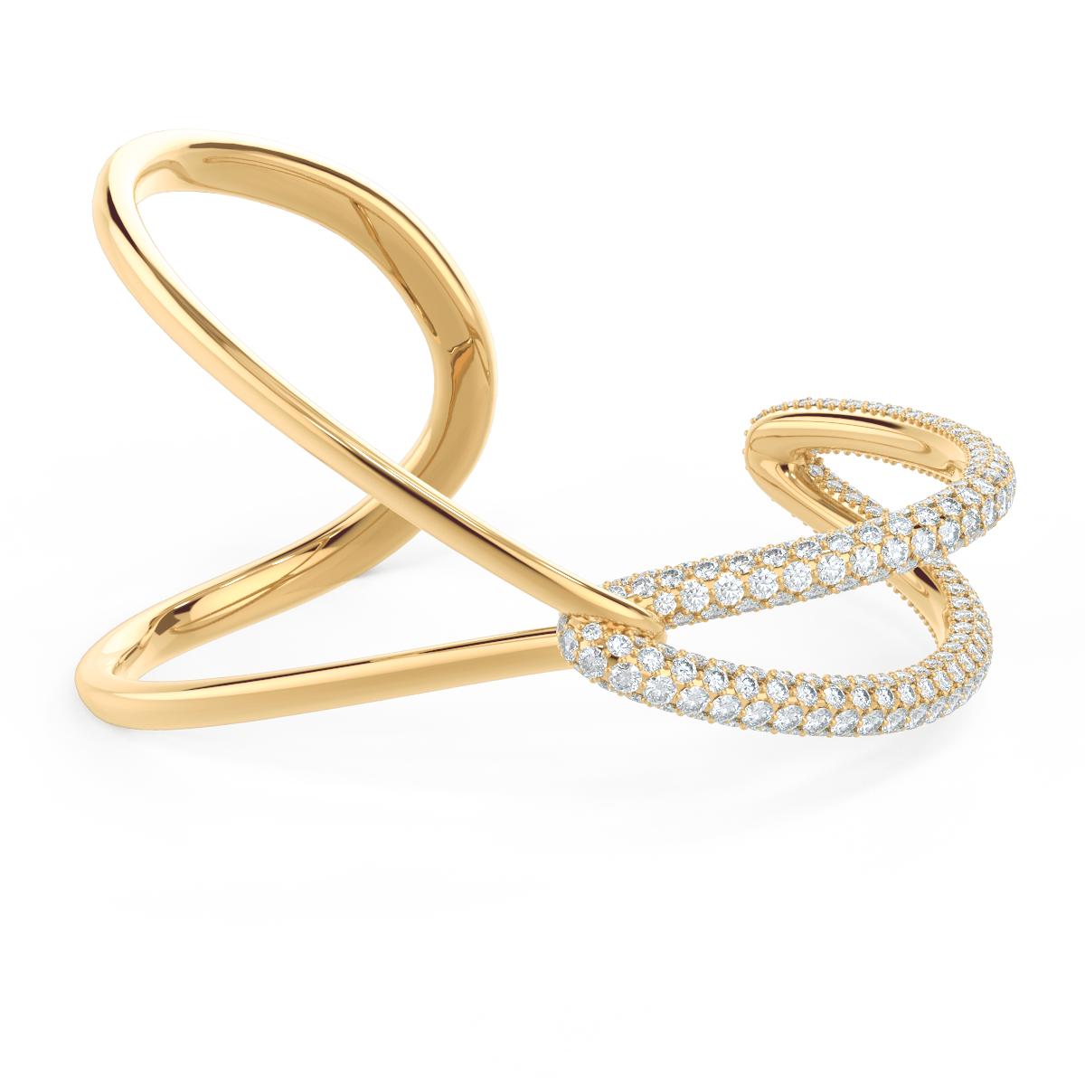Lovelock Interlocking Lab Created Diamond Fashion Bracelet in Yellow Gold
