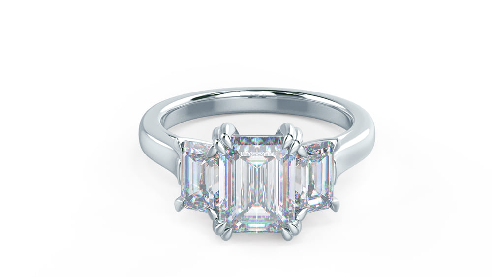 Three Stone Lab Created Diamond Engagement Ring