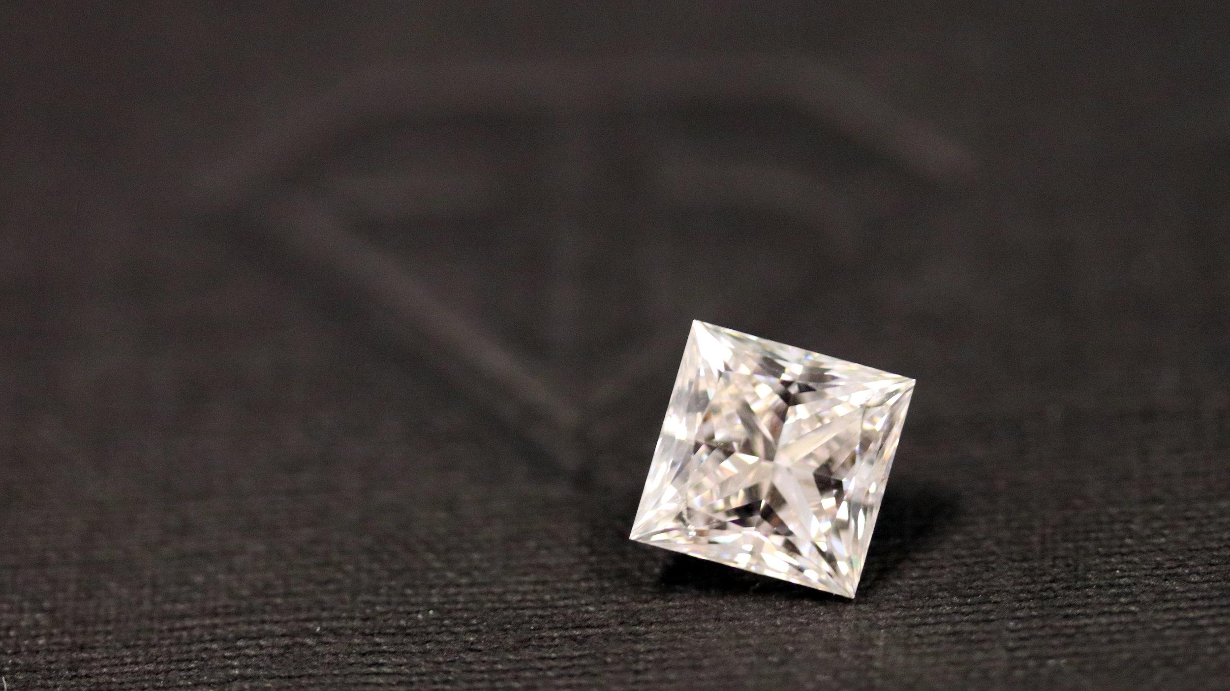 Loose Princess Cut Lab Created Sustainable Diamond