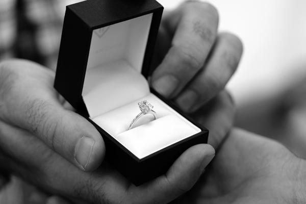 Lab Created Diamond Engagement Ring Proposal