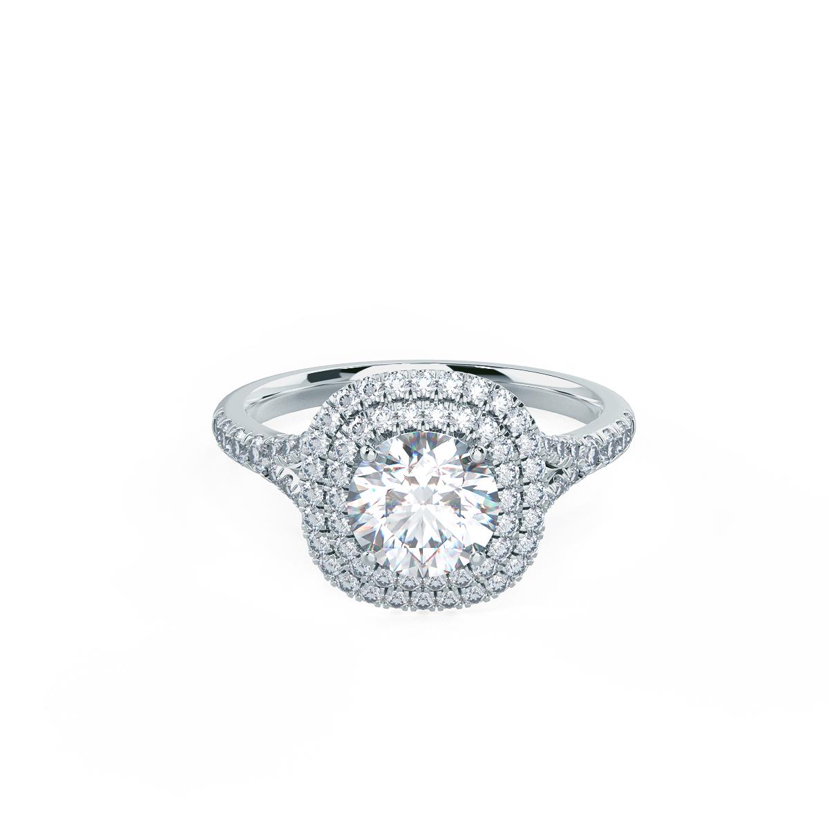 Halo Setting Lab Created Diamond Engagement Rings