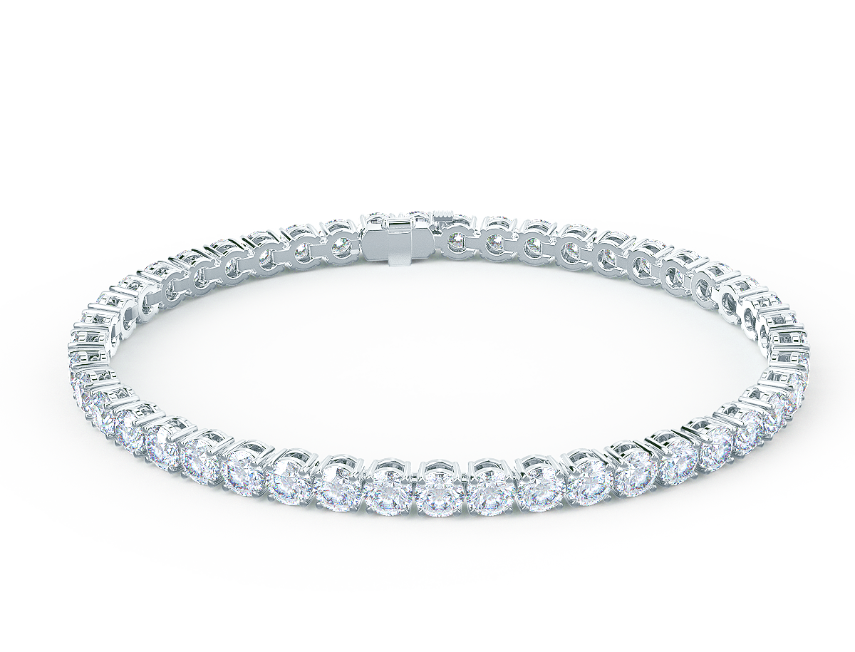 5 carat lab diamond tennis bracelet