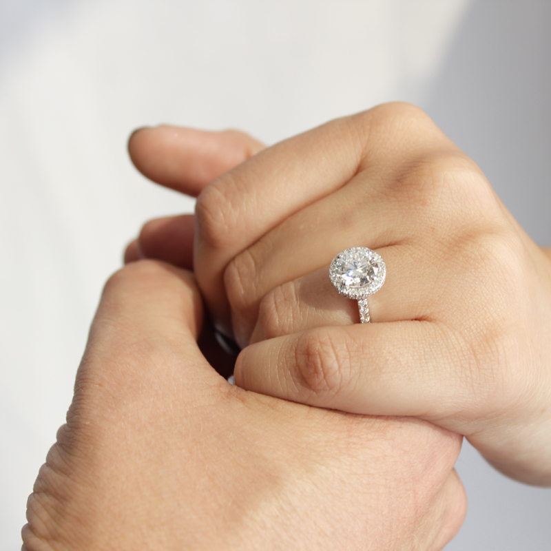 Conflict Free Lab Created Diamond Engagement Ring Proposal