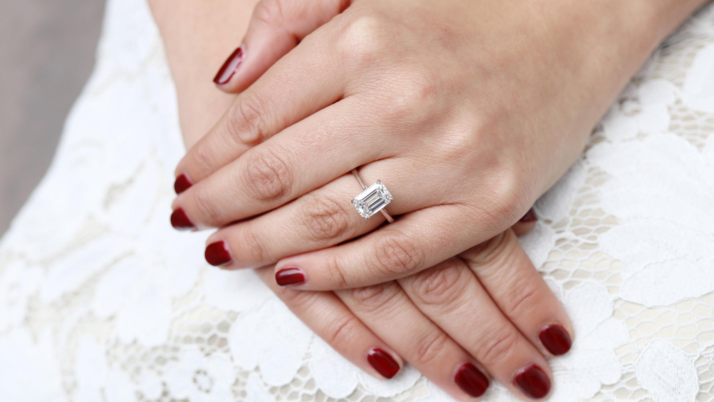 white gold solitaire lab diamond engagement ring ada diamonds