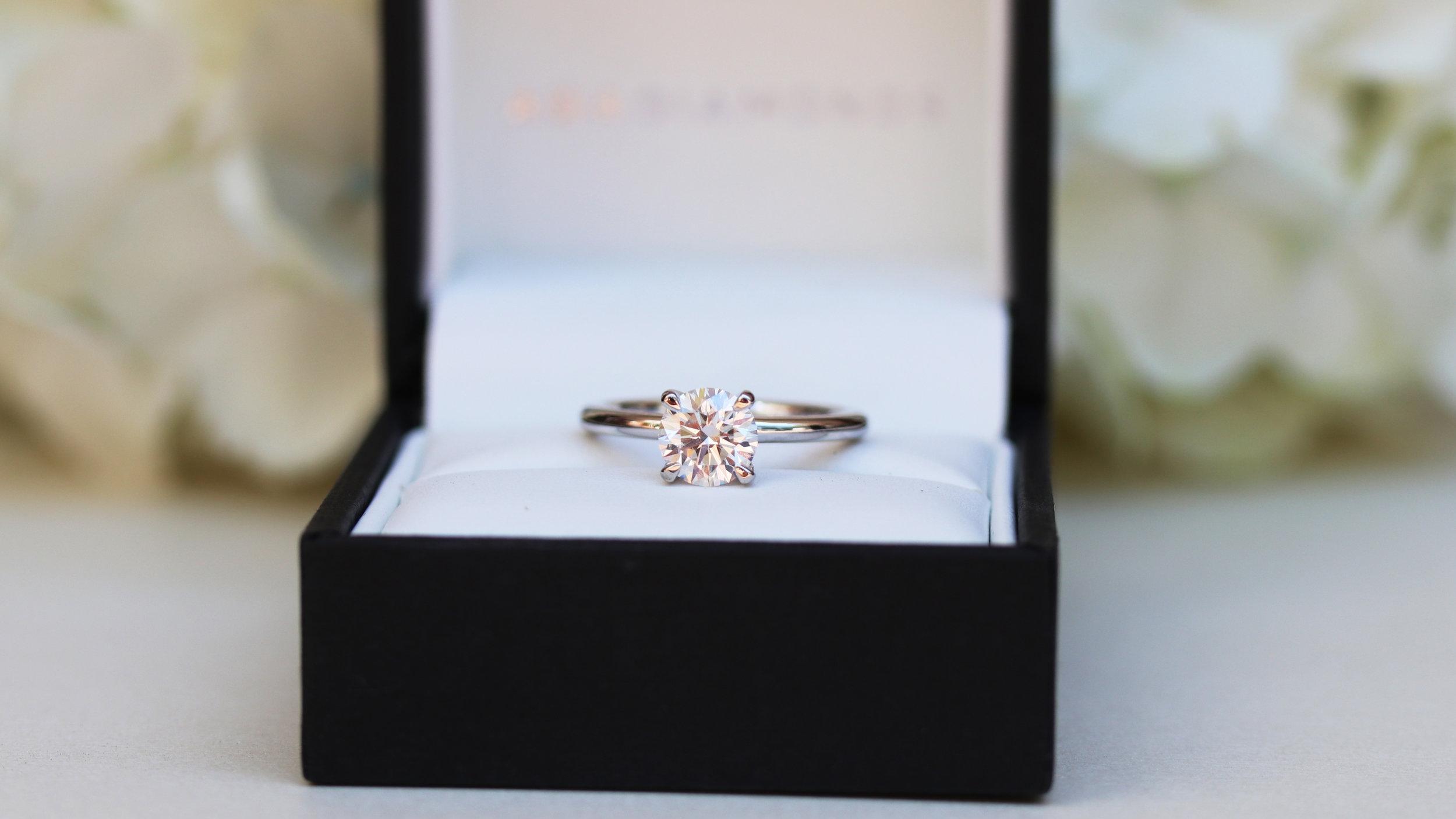 four prong lab diamond solitaire engagement ring ada diamonds
