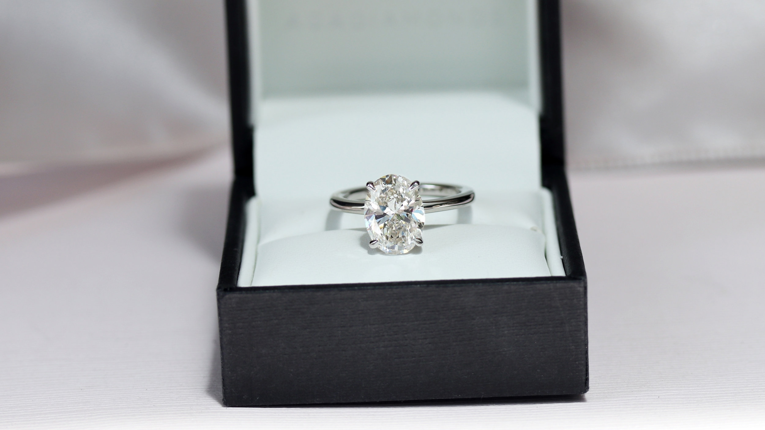 oval lab grown diamond solitaire engagement ring white gold ada diamonds