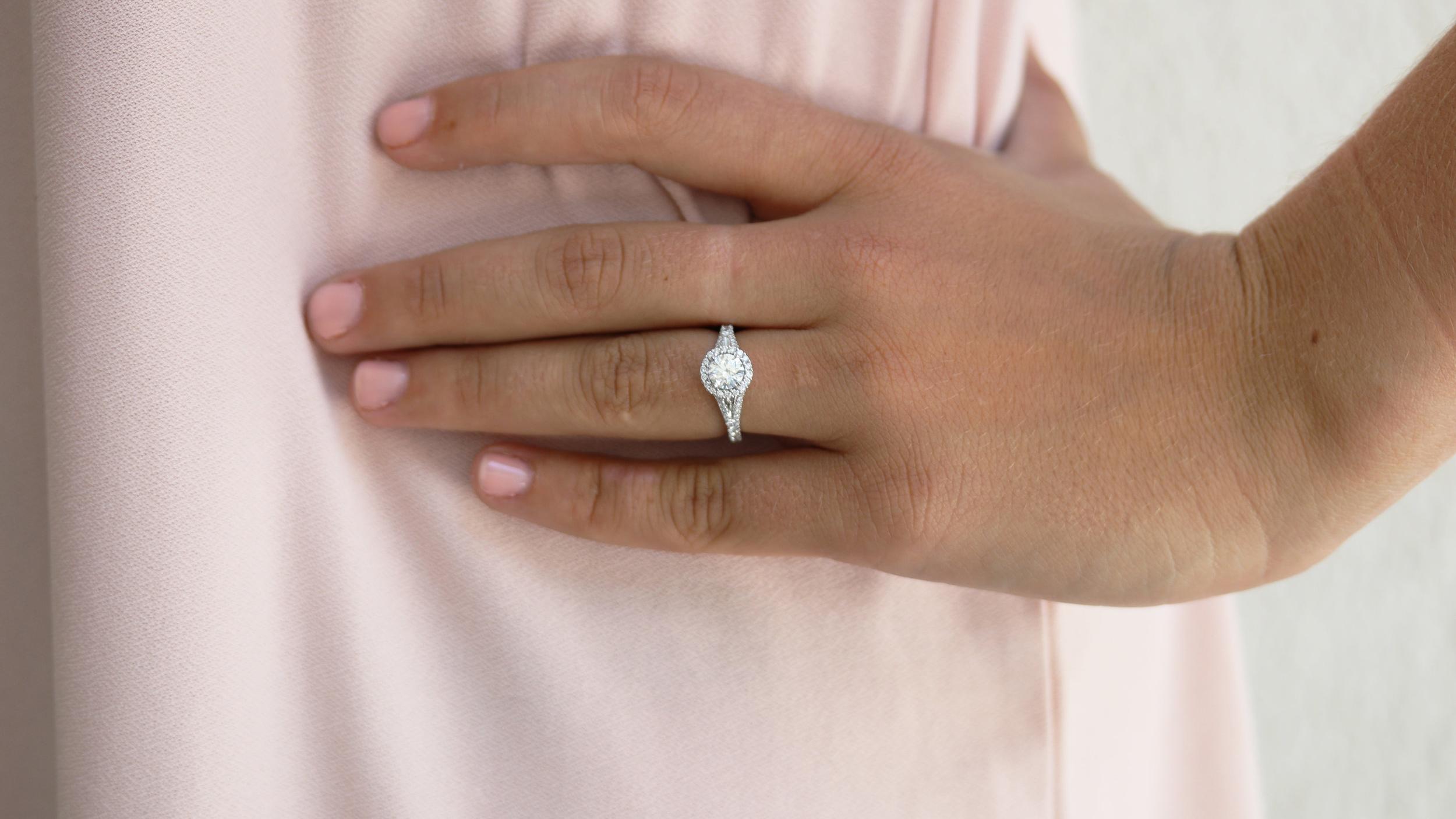 custom single halo lab diamond engagement ring ada diamonds ad-161