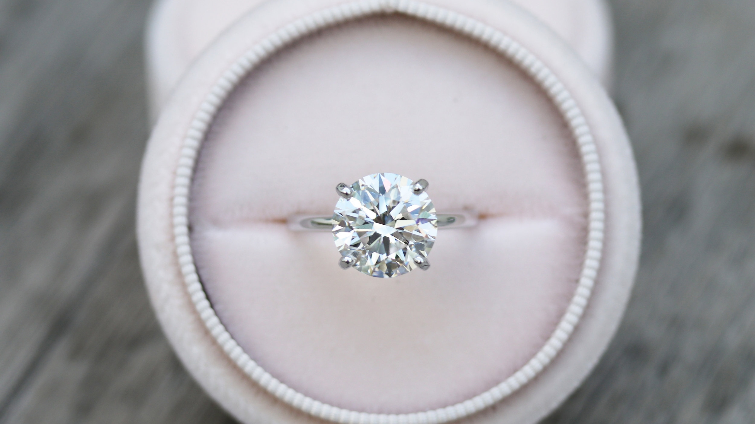 four carat round brilliant lab diamond engagement ring ada diamonds
