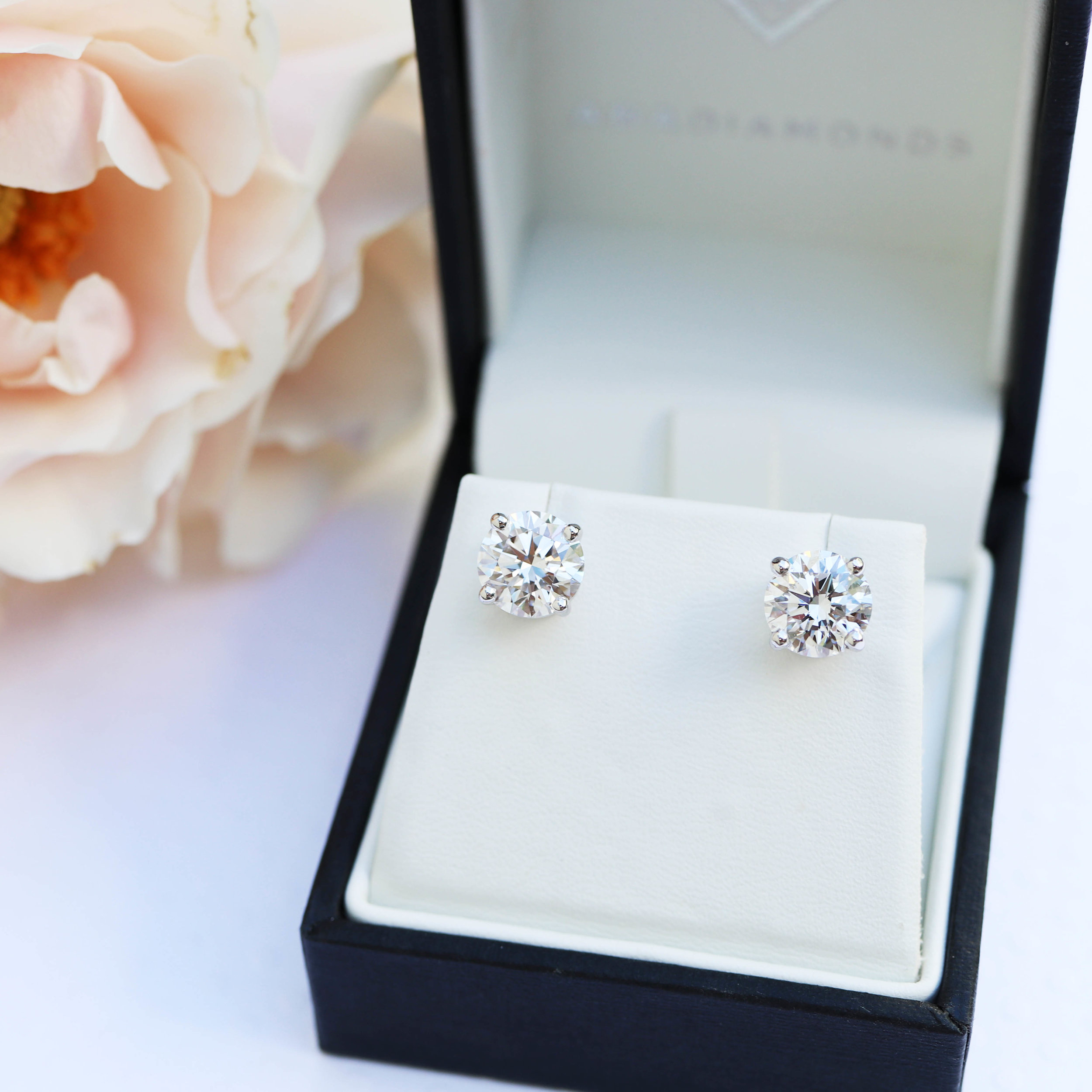 Classic Lab Created Diamond Stud Earrings Artistic