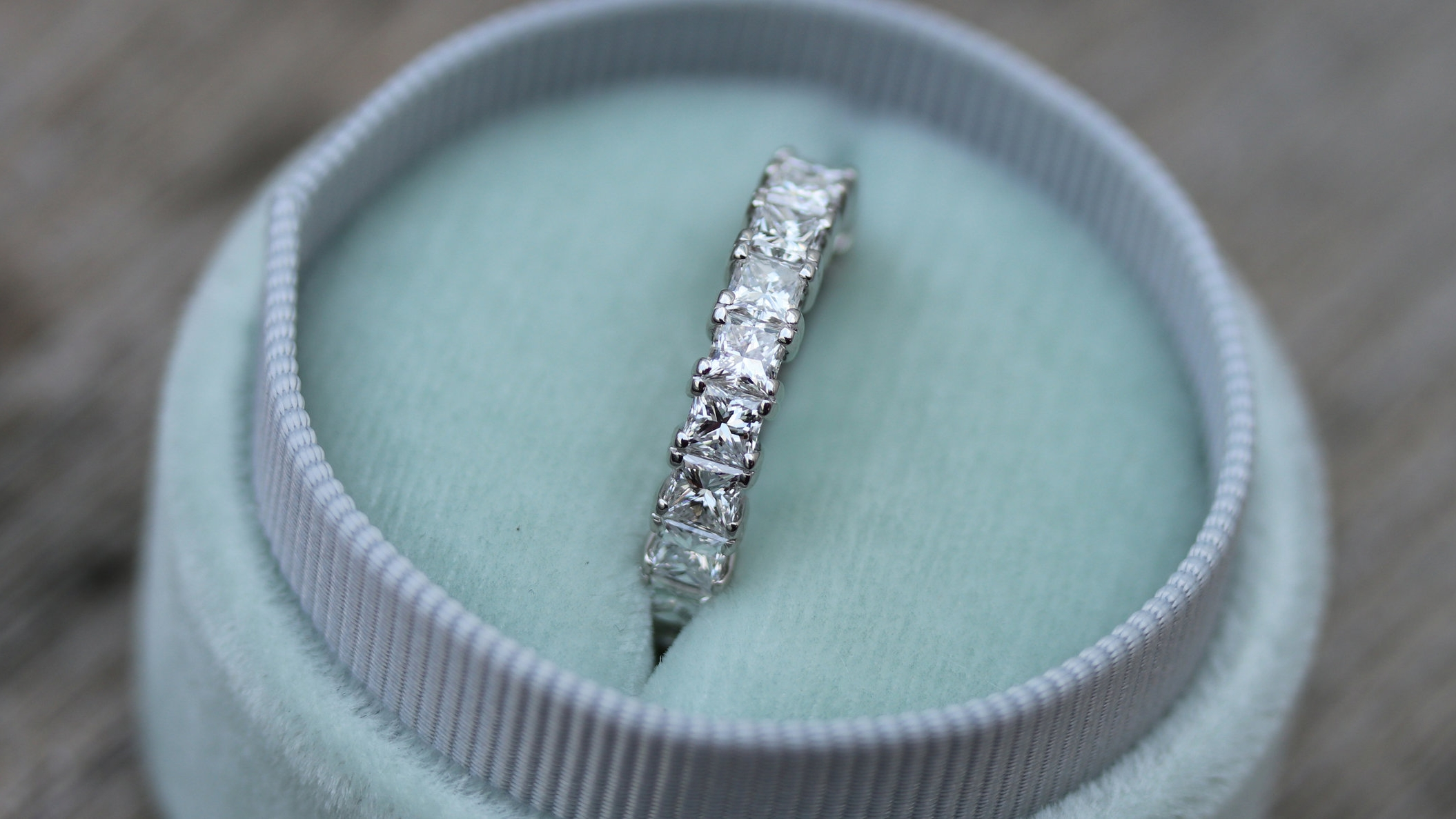 custom emerald cut lab diamond engagement ring Ada Diamonds
