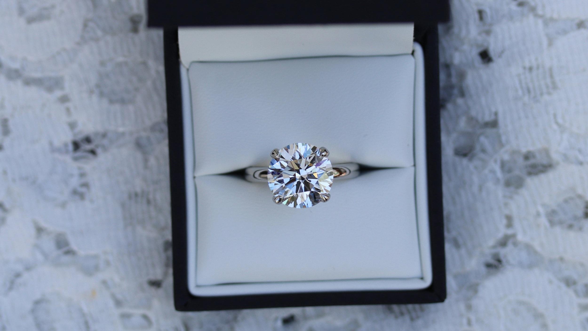 round lab diamond solitaire engagement ring ada diamonds