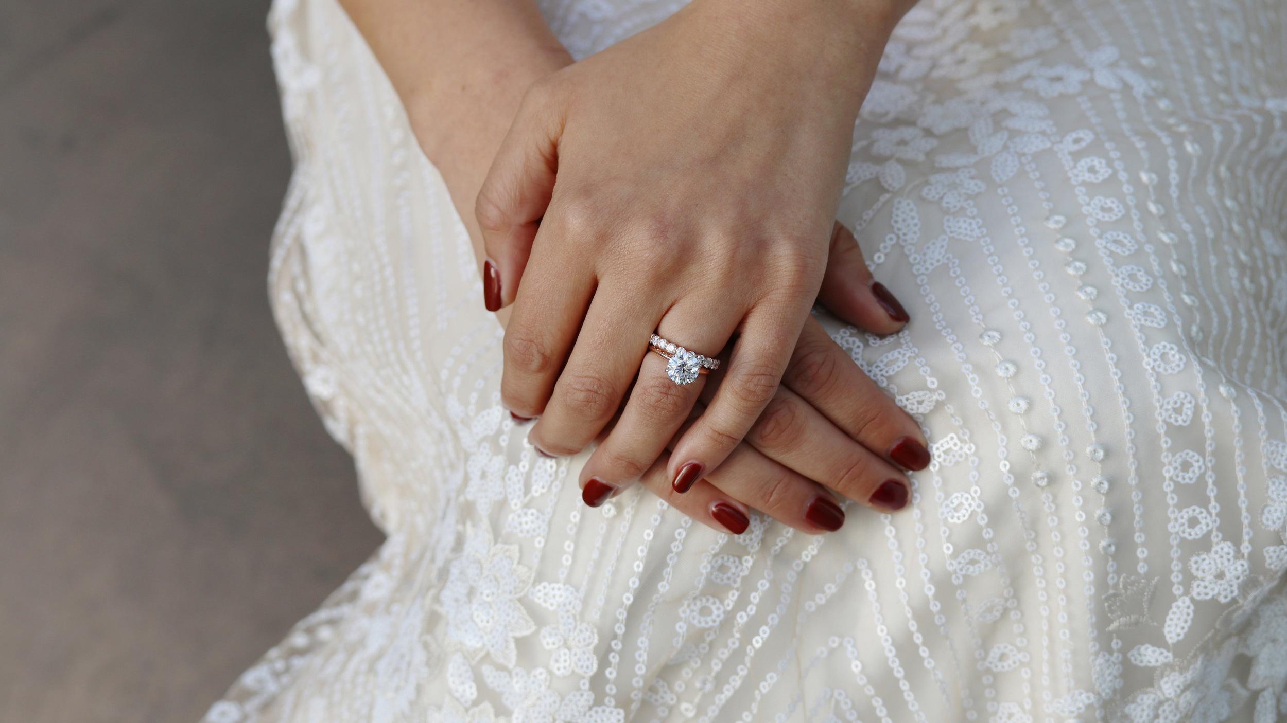 two carat six prong lab diamond solitaire engagement ring ada diamonds