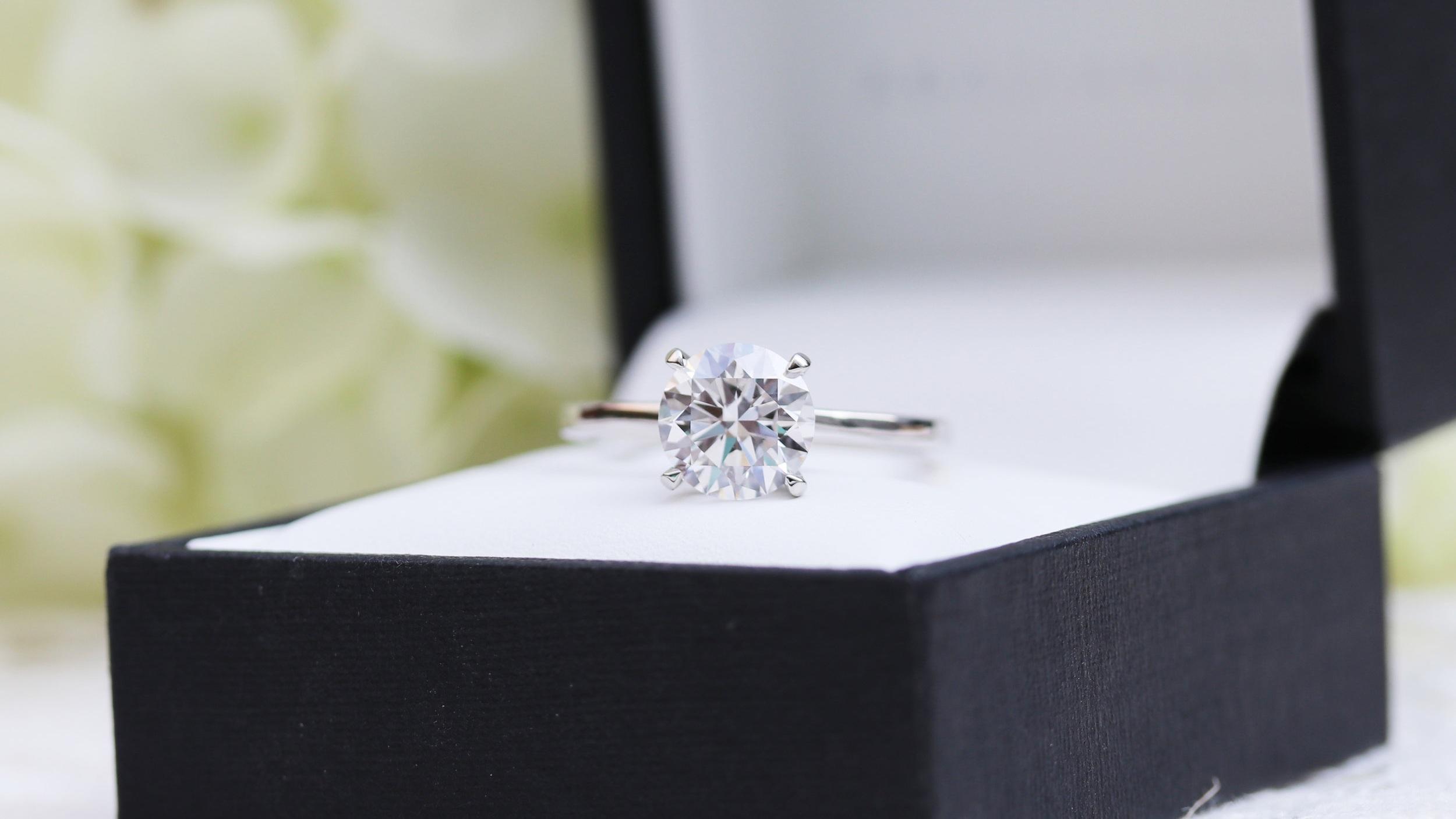 petite four prong lab diamond solitaire engagement ring ada diamonds