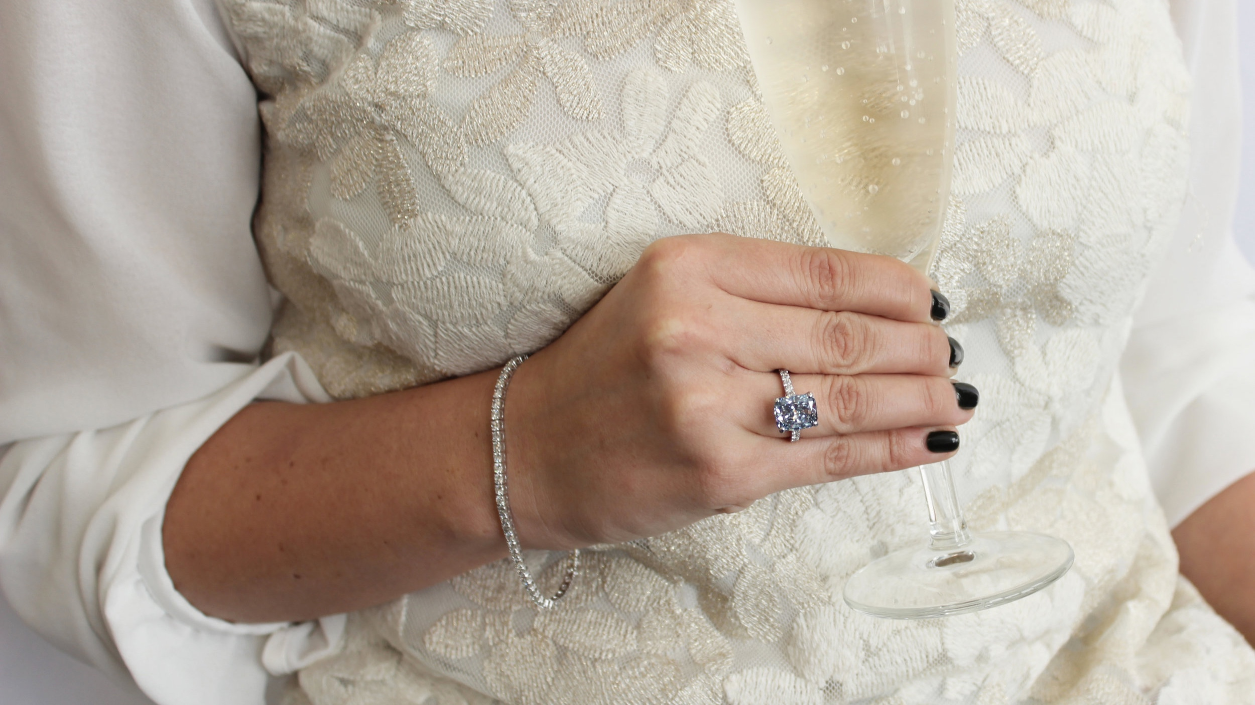 four carat cushion cut lab diamond engagement ring