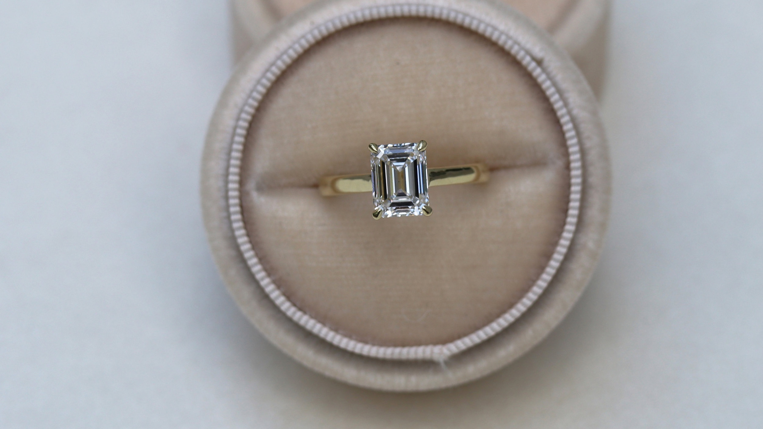 princess cut cathedral solitaire lab diamond engagement ring