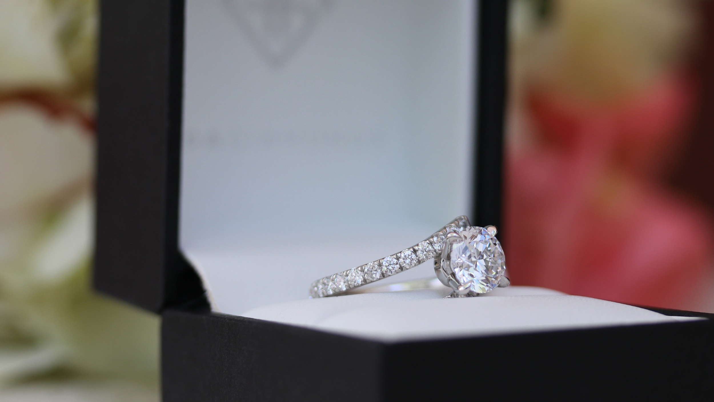 custom diamond band lab grown diamond engagement ring ada diamonds
