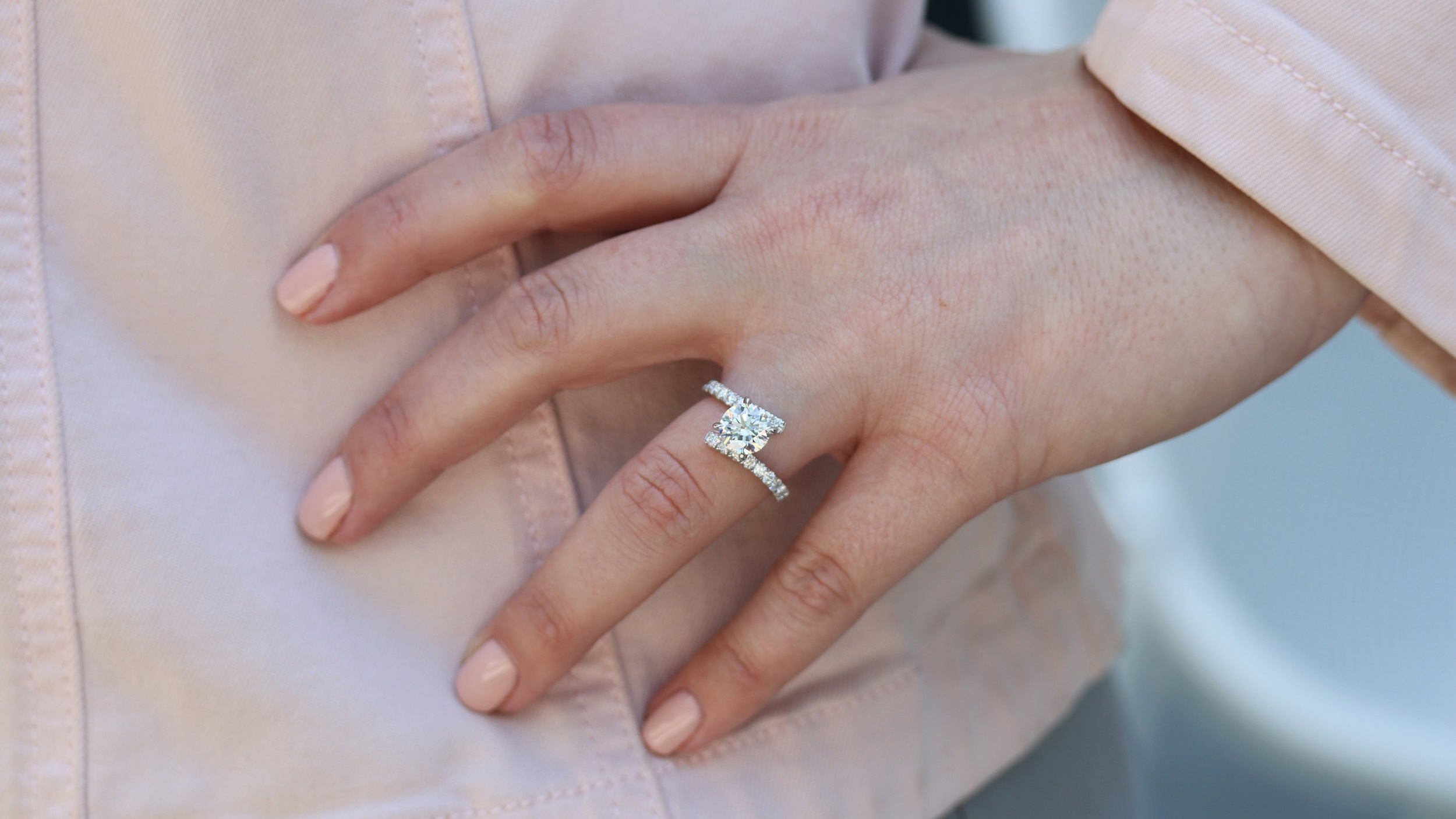 diamond band lab diamond by pass engagement ring ada diamonds