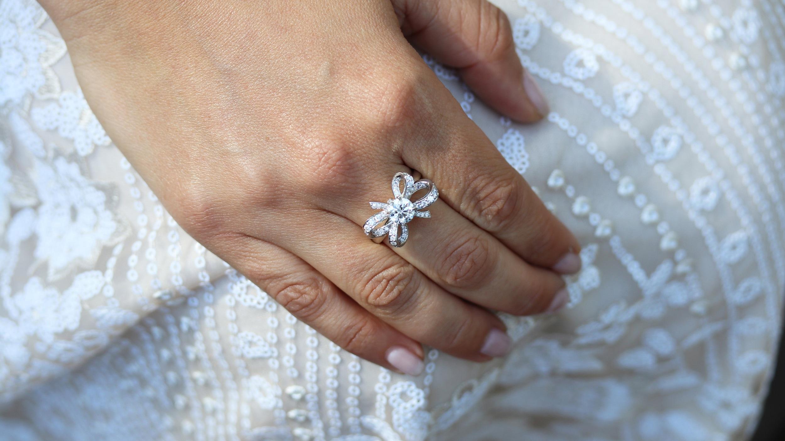 custom bow lab diamond engagement ring ada diamonds