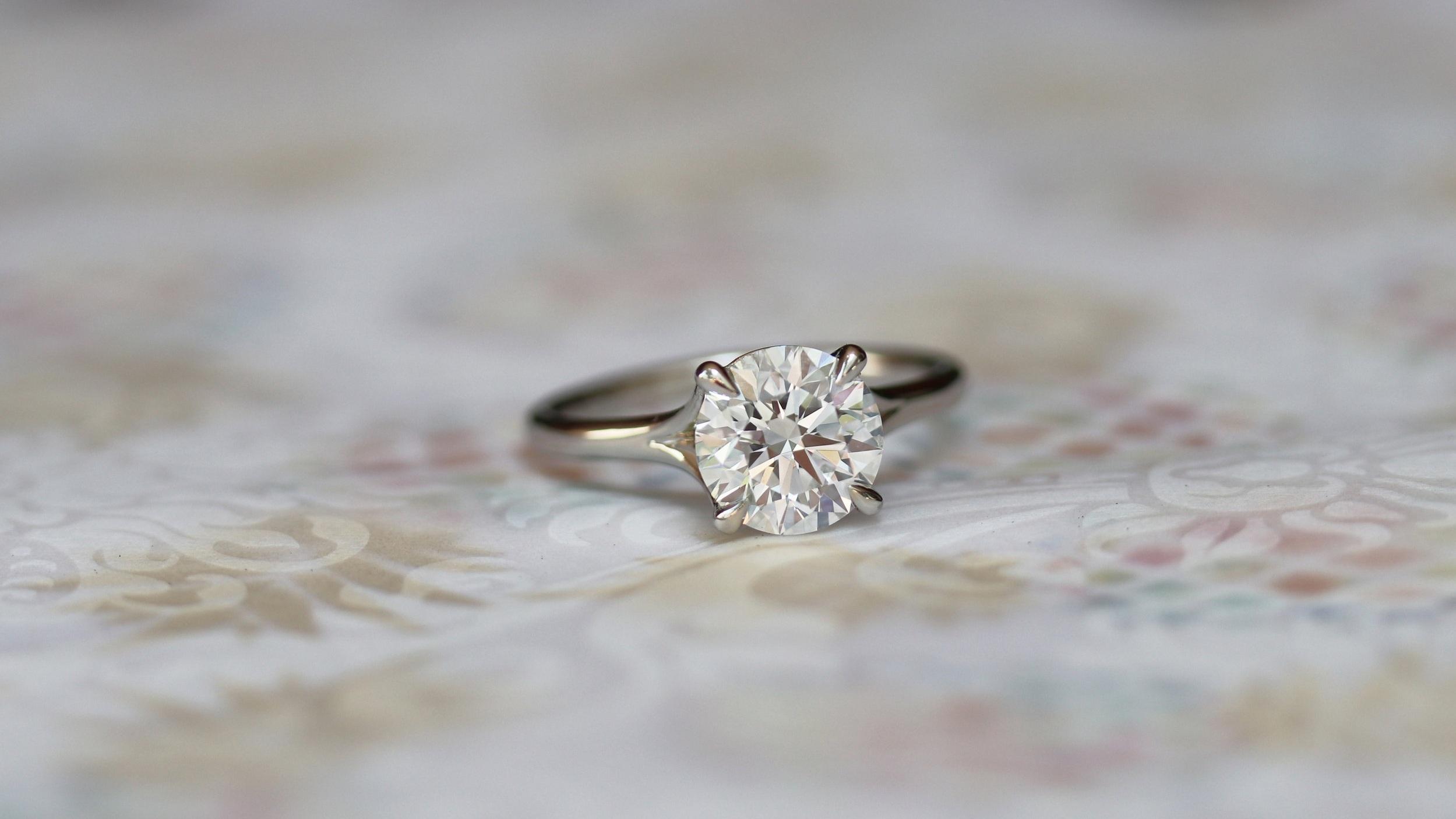 custom split shank lab diamond engagement ring ada diamonds