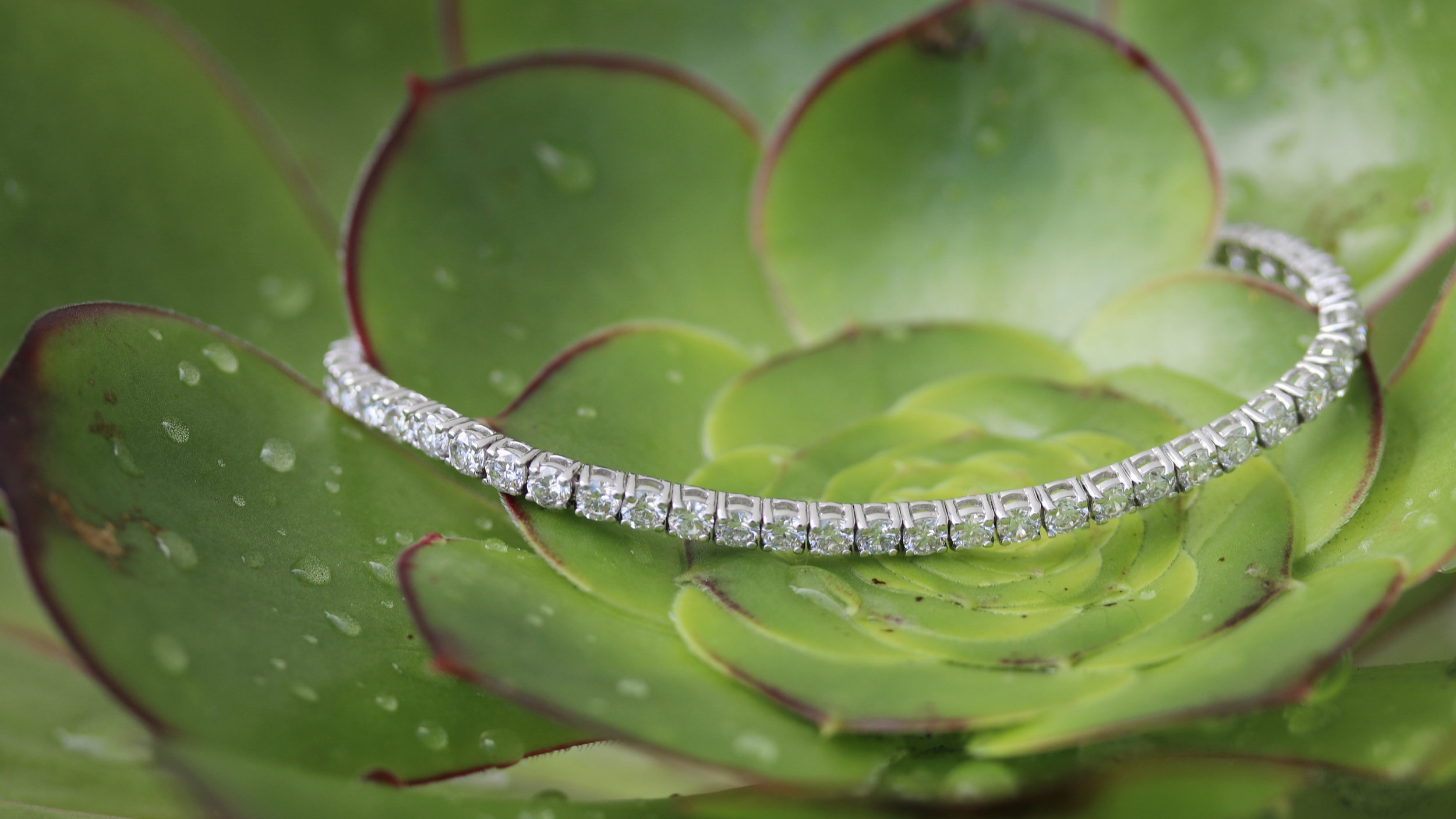 three layer lab diamond tennis bracelet