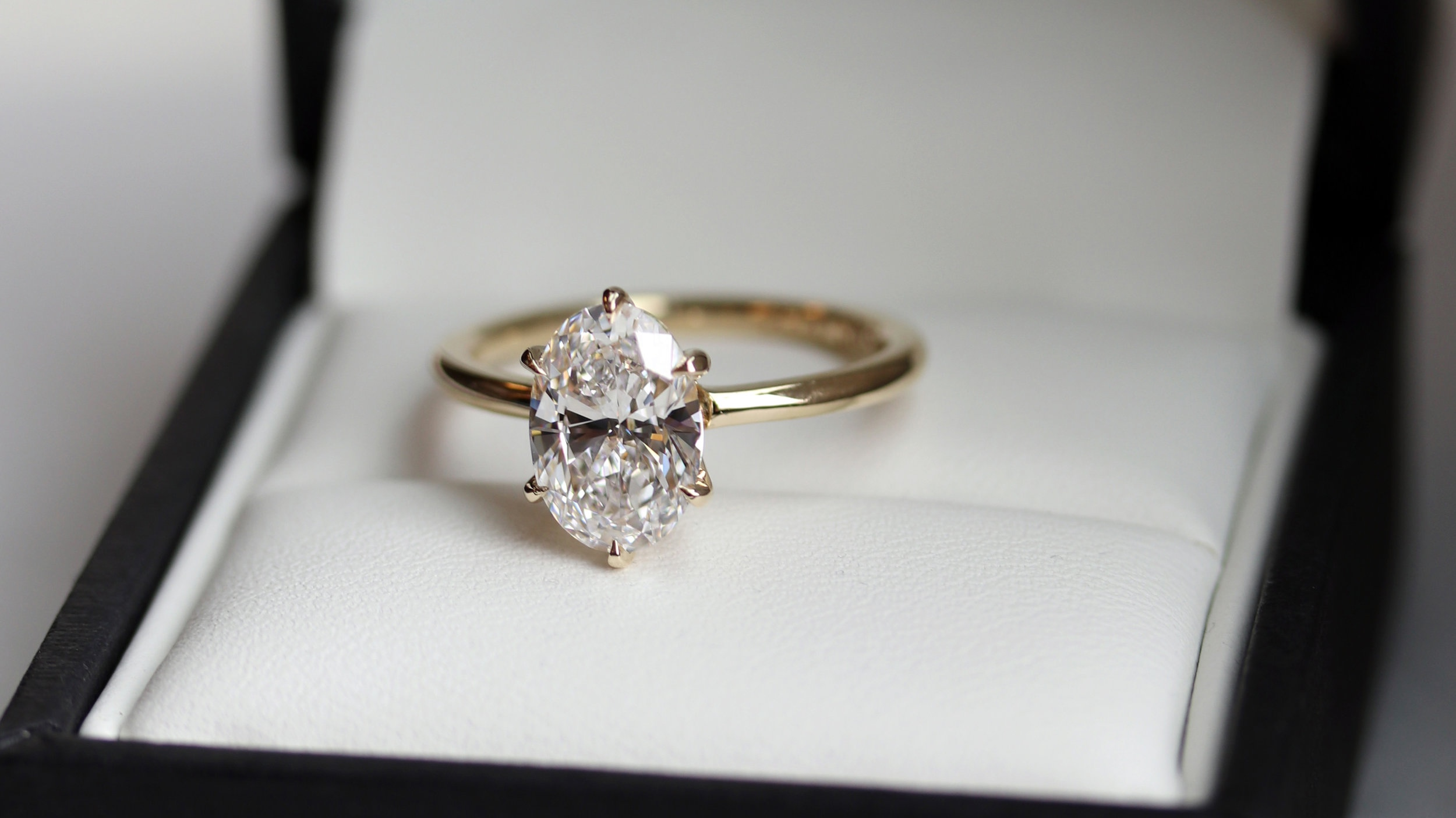 Six Prong Oval Solitaire Engagement Ring