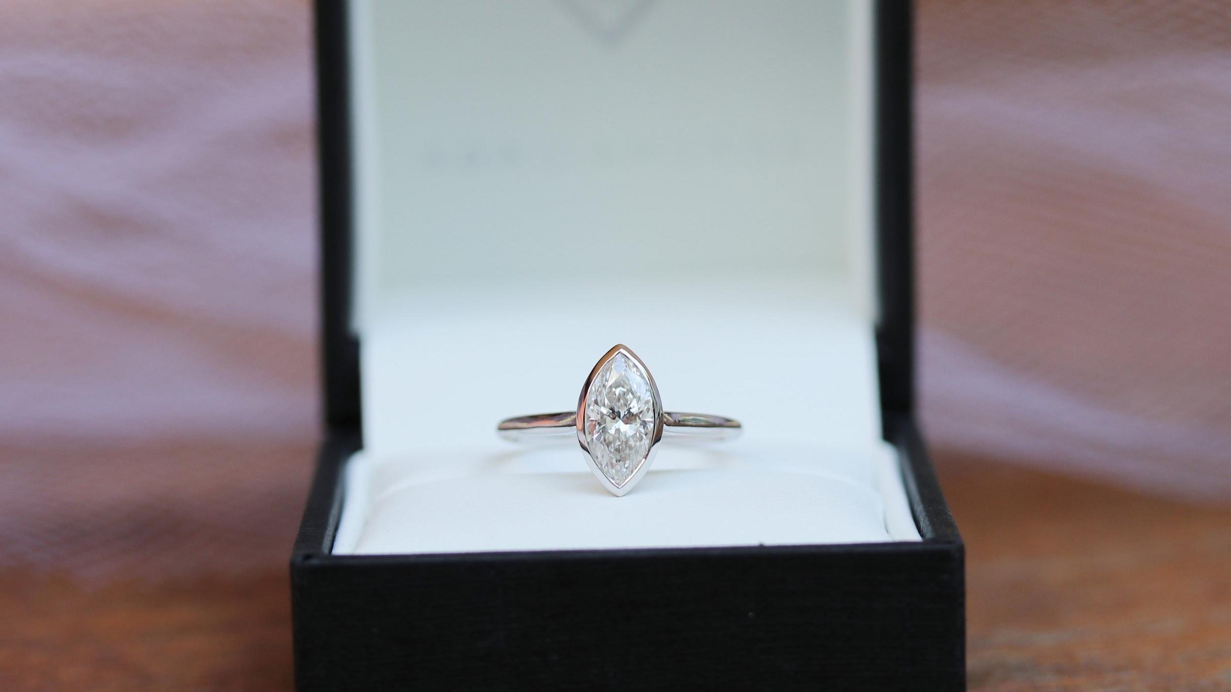 one carat cushion cut lab diamond halo engagement ring