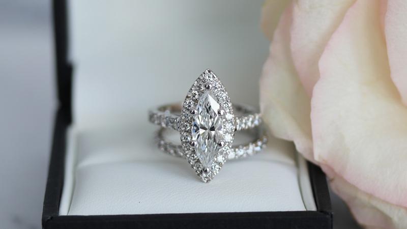 2.5 carat cushion cut diamond band lab diamond engagement ring ada diamonds ad-214