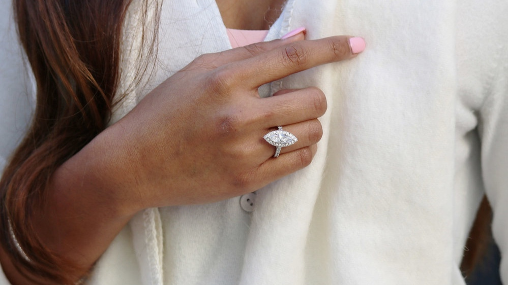 2.5 carat diamond band lab diamond engagement ring with cushion cut diamond ada diamonds ad-214