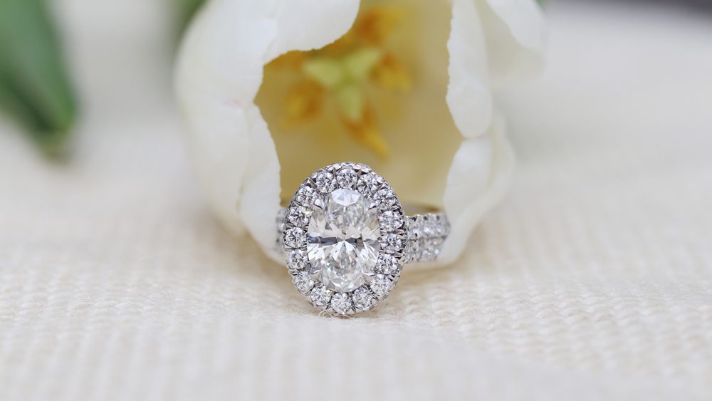 Classic Round Solitaire Lab Created Diamond Engagement Ring in Platinum
