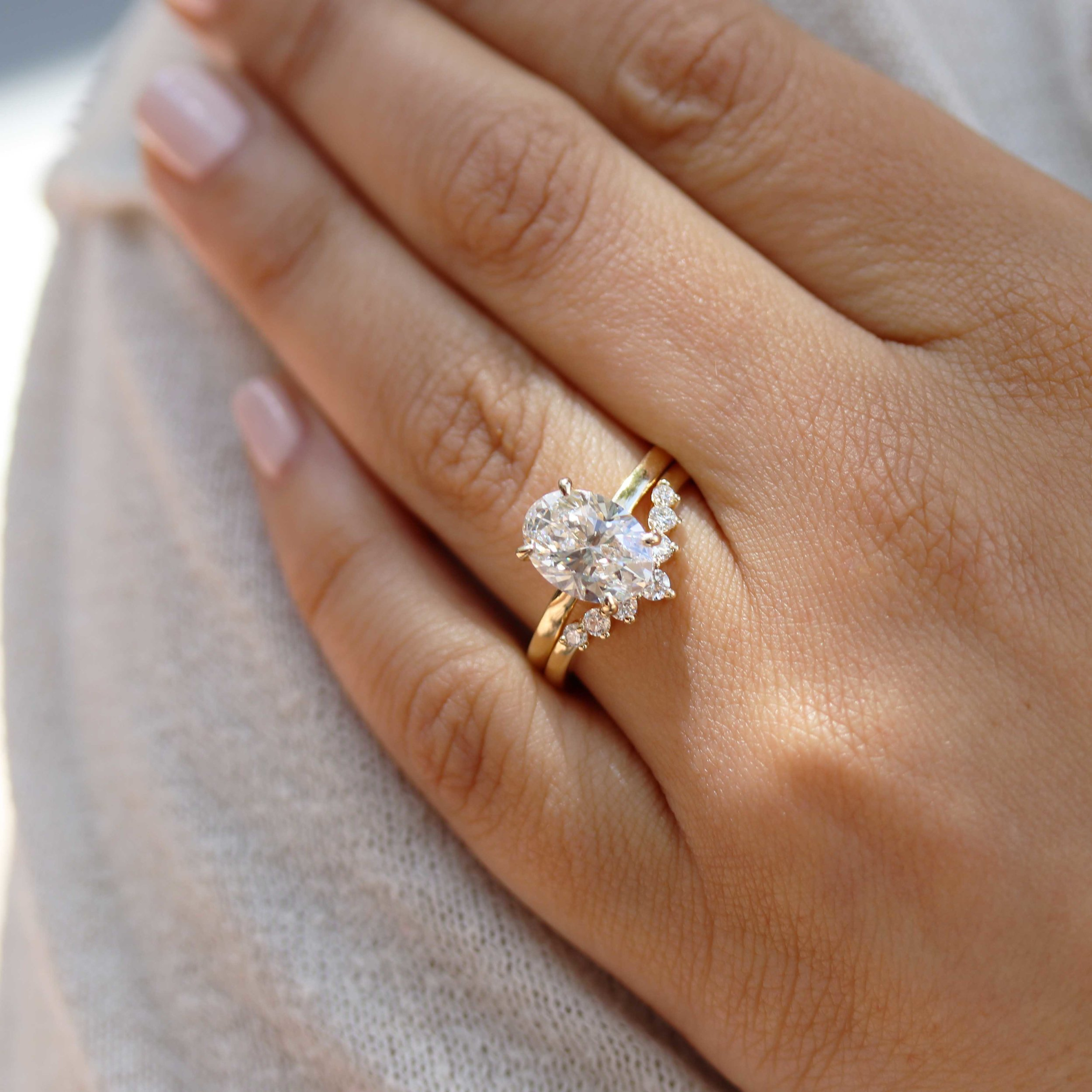 Nesting Wedding Band  From the Leader in Luxury Lab Diamonds