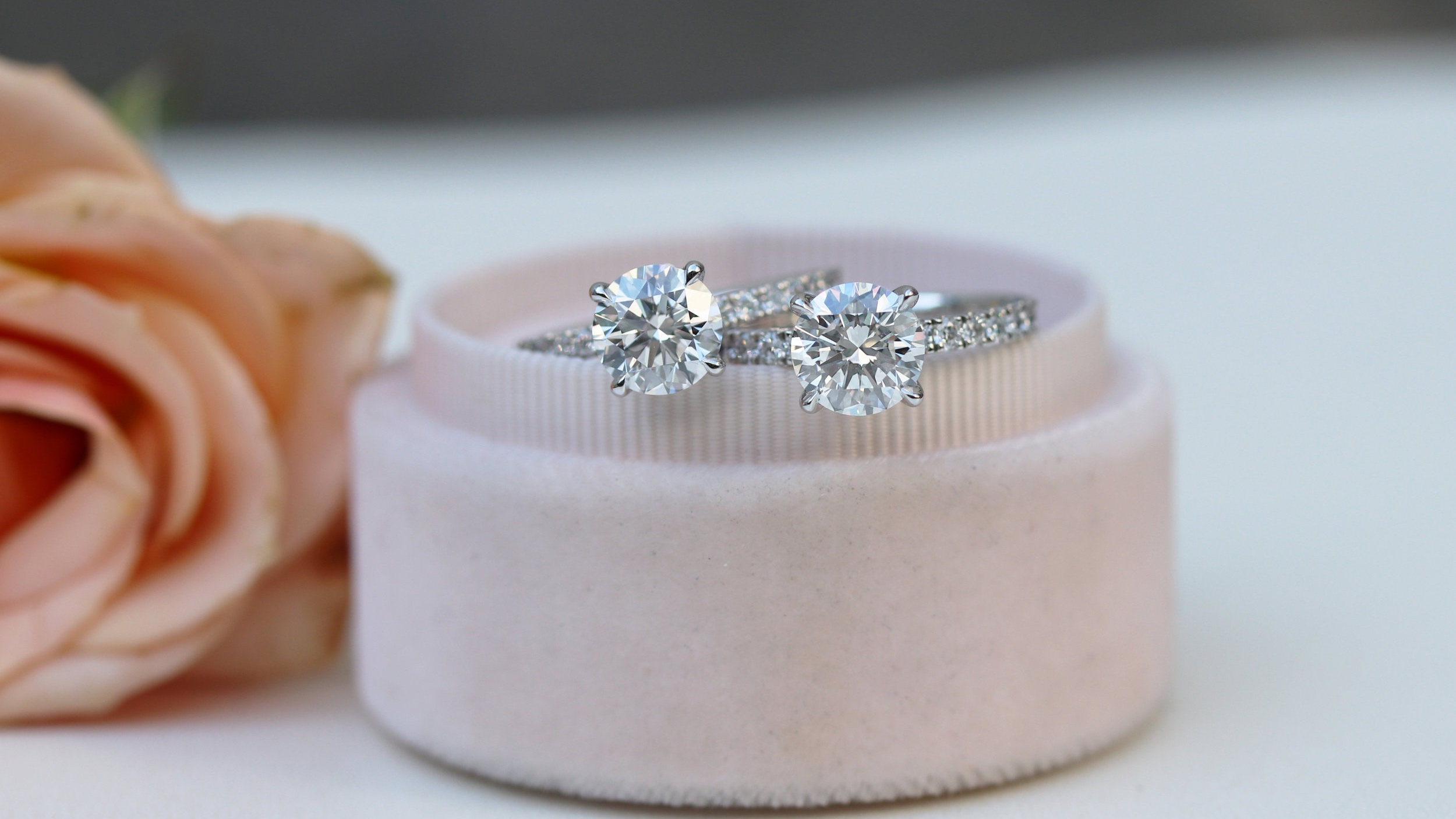 custom diamond band lab created diamond engagement rings