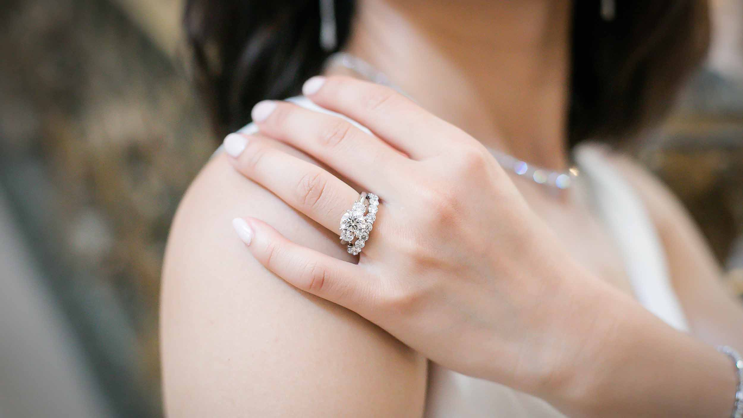 Pear Lab Created Diamond Engagement Ring in Rose Gold Profile View