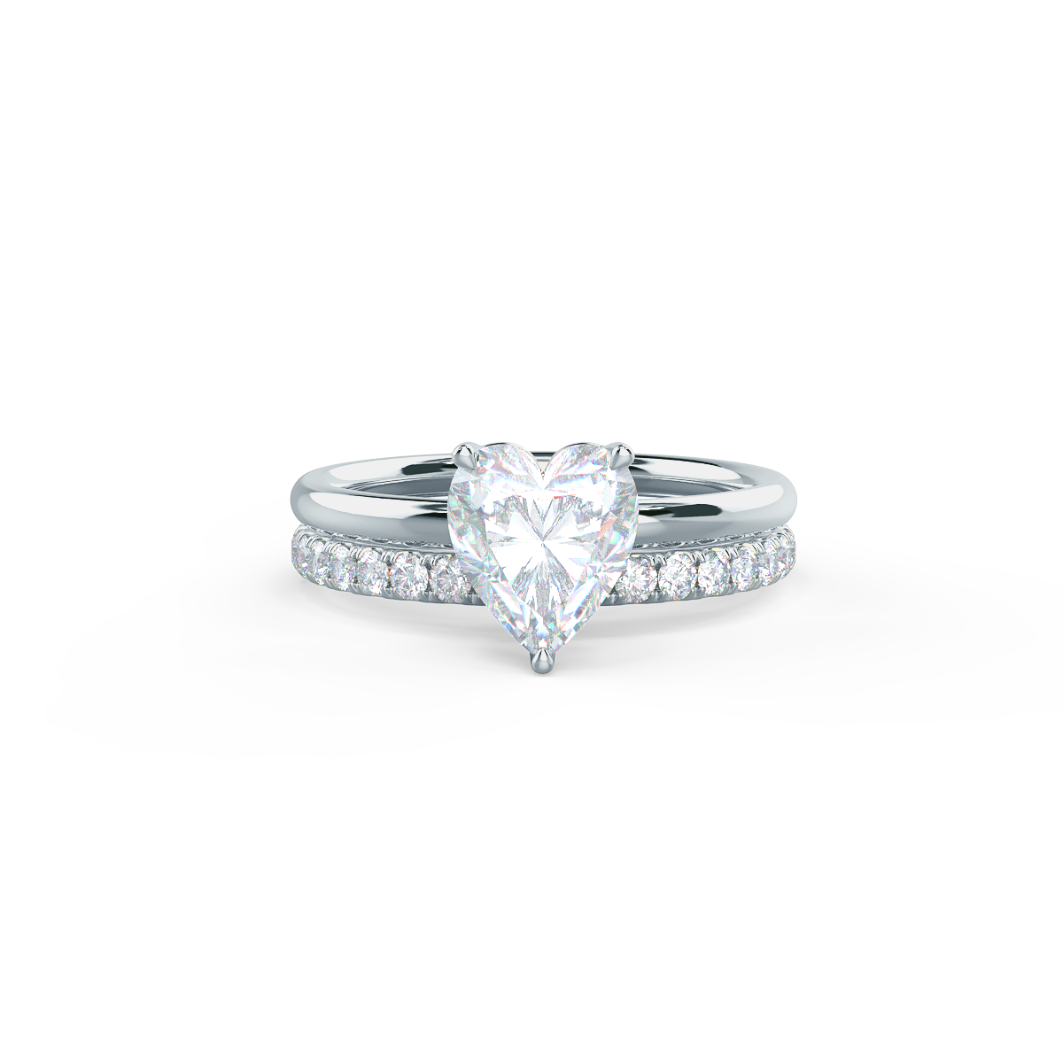 This setting allows for a wedding band to sit flush with no gap.     View Wedding Band Details
