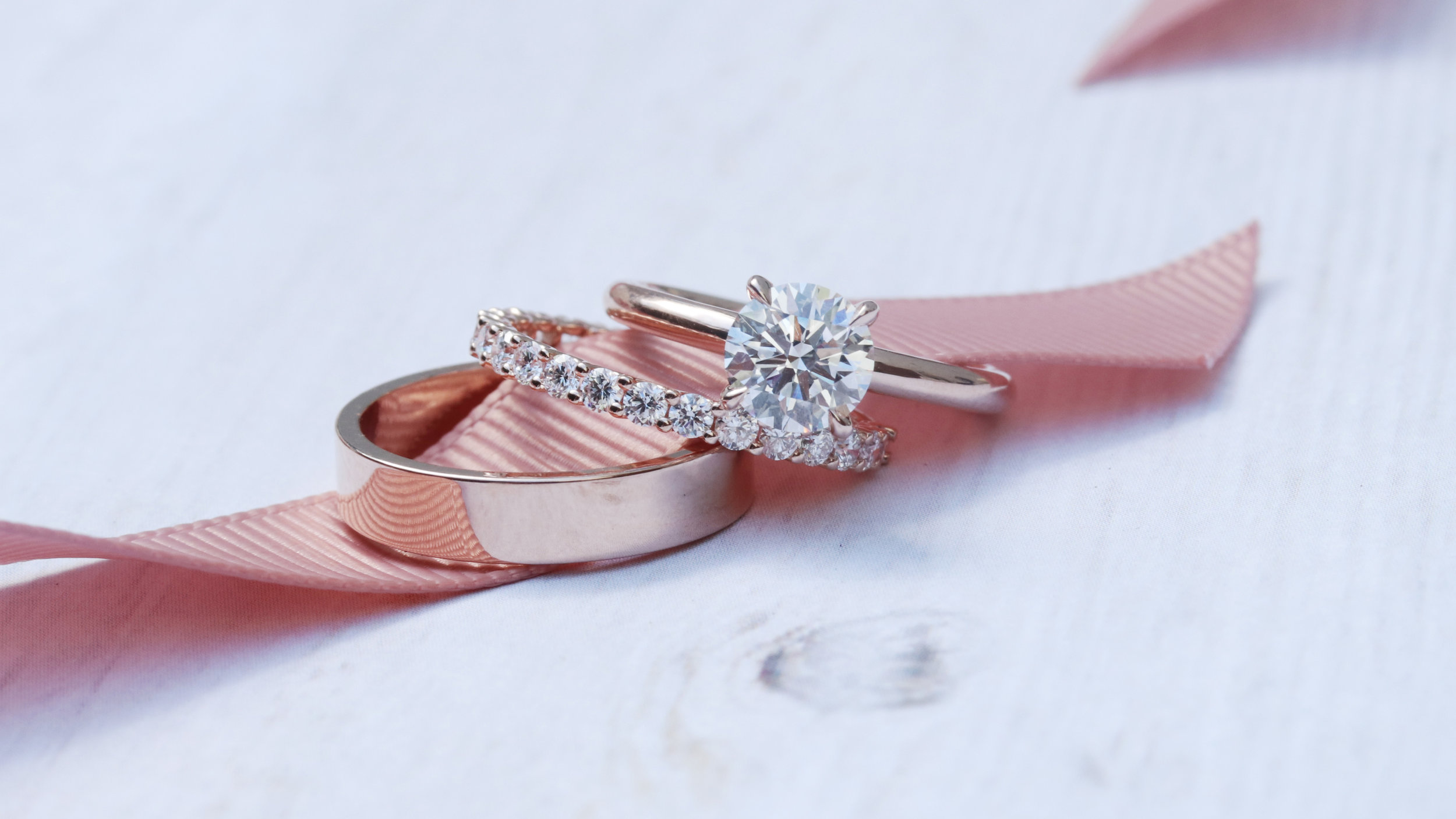 lab diamond wedding set ada diamonds