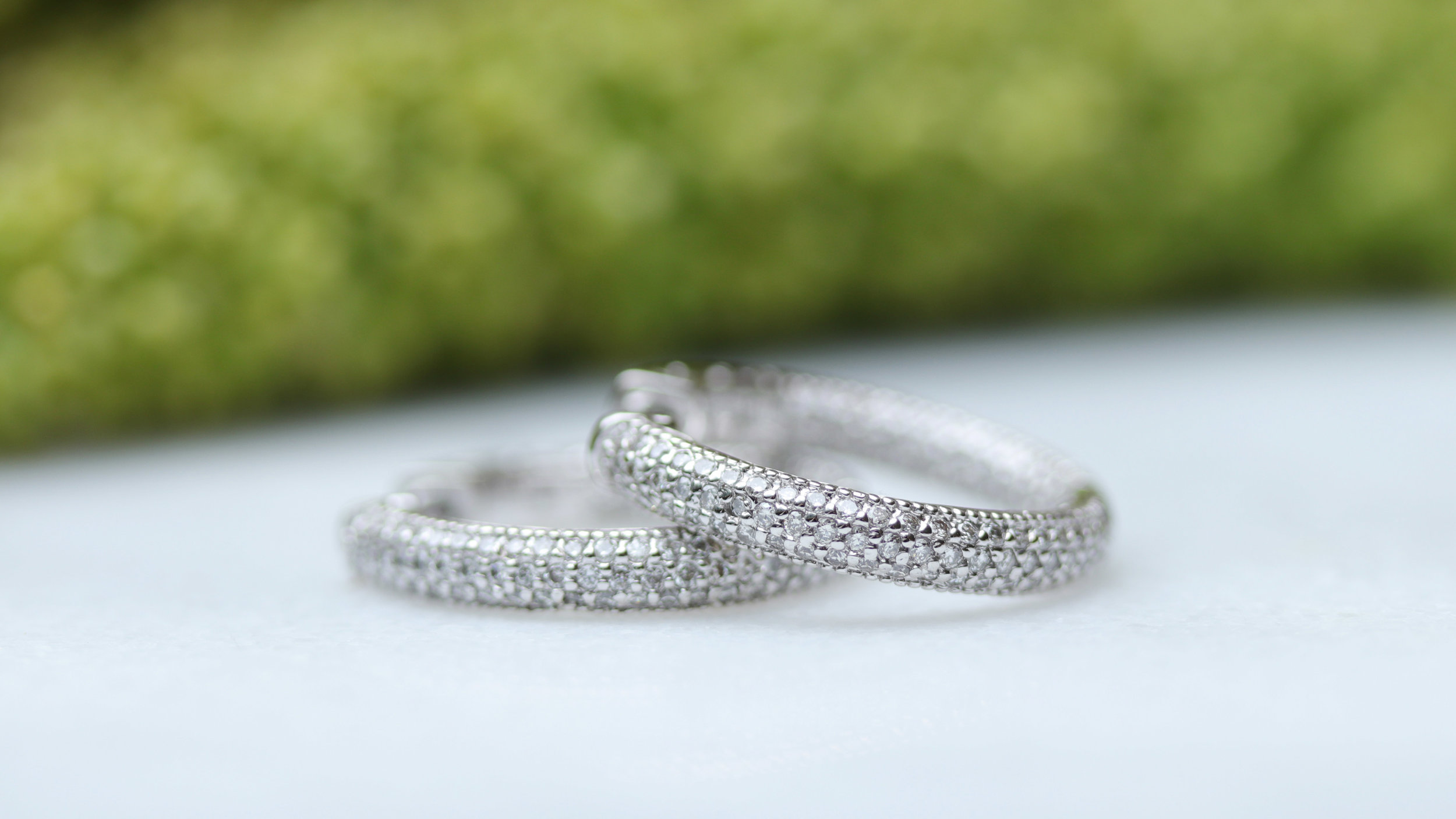 lab diamond pave hoop earrings ada diamonds