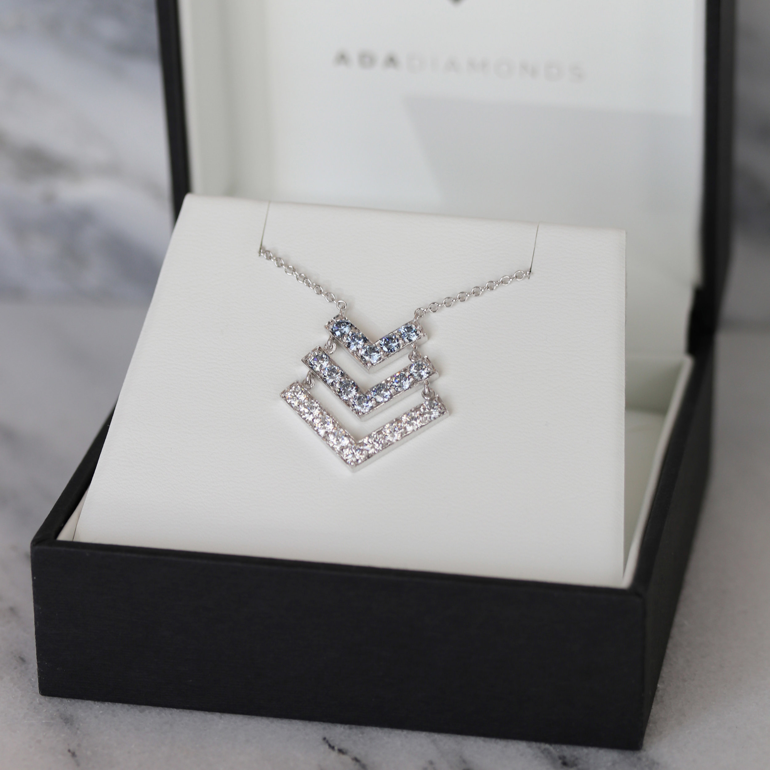 Fancy Blue and Colorless Lab Diamond Heavenly Halo Pendant Ada Diamonds AD-013