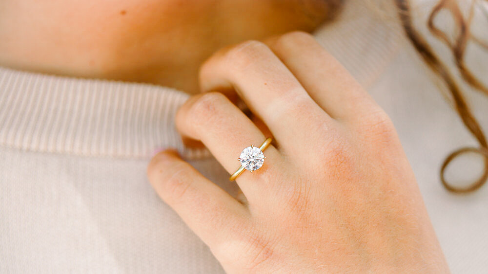 Custom Marquise Fancy Shaped Pave Lab Created Diamond Engagement Ring