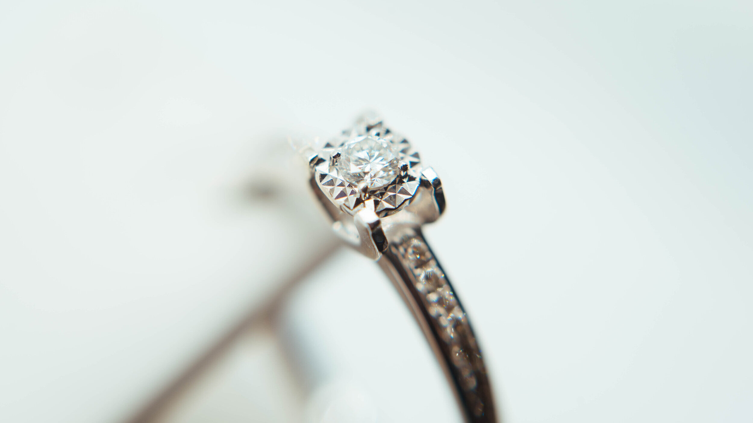 Emerald Cathedral Solitaire Lab Created Diamond Engagement Ring in Yellow Gold