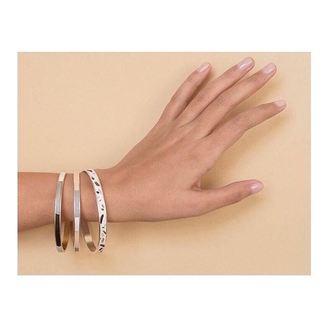 Stack is the new black✨#clay_inlay • • • • • #handcraft #marionwildnyc #marionwild #shoppable #slowfashion #slowcraft #scadgrad #scadjewelry #handsandhustle #emergingbrand #emergingdesigner #minimaljewelry #slowfashion #statementjewellery #newjewelry #friyay #partybangles #jewelryparty #banglestack #stackisthenewblack #stackitup #armparty #armpartyoftheday #fridayfeelinggood #fridayfeeling