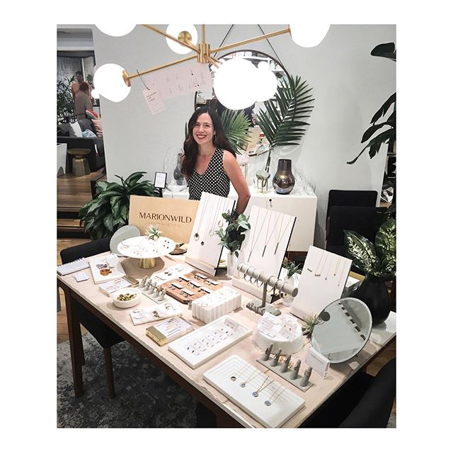 Hi! I'm here at West Elm in Manhattan selling my jewels until 5pm today, feeling all the midcentury vibes. ✨I thank @westelm for supporting local handmade artists, it's refreshing to see a big company supporting small businesses.