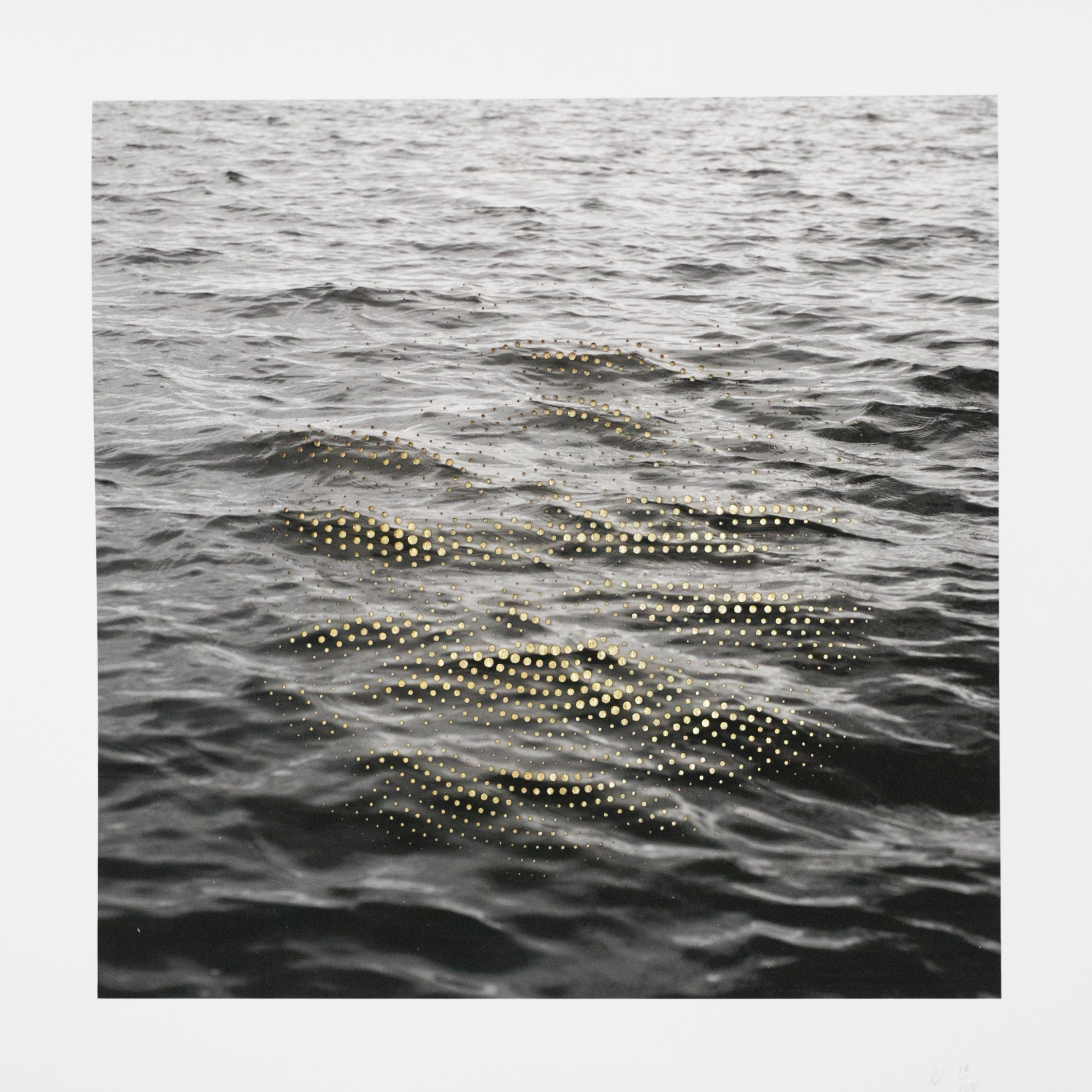 """ED006: Ryan Van Der Hout - Swell  2018 Laser cut archival pigment print on archival Cold Press paper (305 GSM, 19 mil.), gold leaf 11"""" x 11"""" Signed and numbered in pencil  recto verso  Edition of 100"""